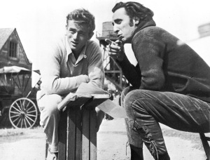 on the set with James Dean