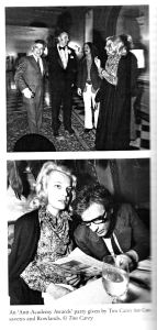 """Anti-Academy Awards party"" given by Tim for John Cassavetes and Gena Rowlands"