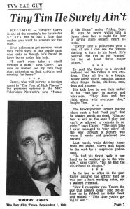 Article, Bay City Times, 1968
