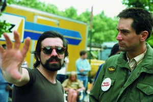 Scorsese directing DeNiro in Taxi Driver