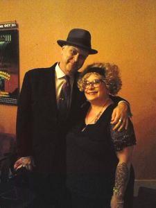 Eddie Muller and Marisa at Noir City Portland, 2014