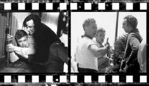With Elia Kazan and James Dean on the East of Eden set