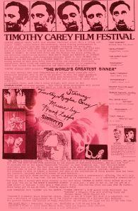 SINNER screening flyer, 1992